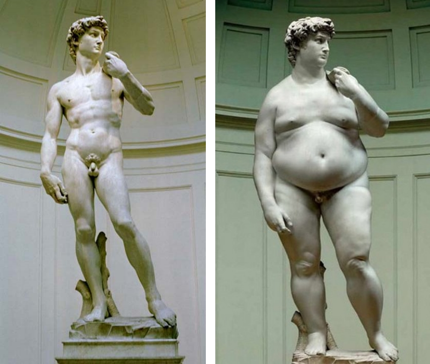 100 out of 100 people will say the statue on the left looks better