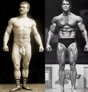 Eugen Sandow vs Arnold Schwarzenegger - Gold Standard Bodybuilders before and after steroids were discovered